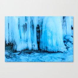 Ice curtain of the lake Baikal Canvas Print