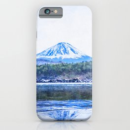 Japan watercolor painting #2 iPhone Case