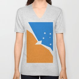 Flag of Tierra del Fuego Unisex V-Neck