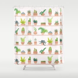 Green Thumb Shower Curtain