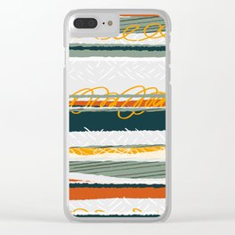 Green and Gold Clear iPhone Case