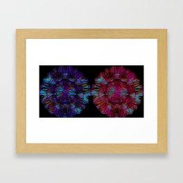 Twin Flame Mandalas Framed Art Print