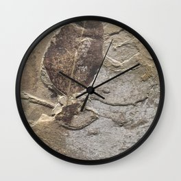Nature - Leaf of our Past Wall Clock