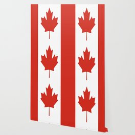 red maple leaf flag of Canada Wallpaper