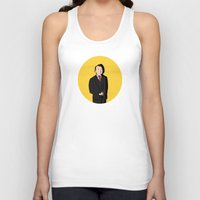 tintin Tank Tops featuring Tintin style Mycroft by thediogenes