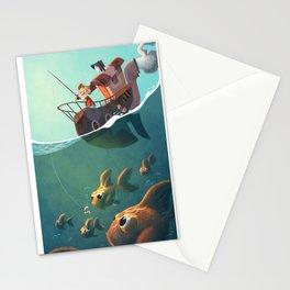 la pêche aux télescopes Stationery Cards