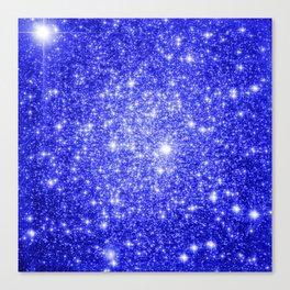 Royal Blue GAlAXY Stars Canvas Print