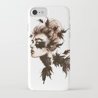 crow iPhone & iPod Cases featuring Crow by Nora Bisi