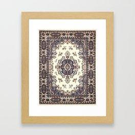 V8 Moroccan Epic Carpet Texture Design. Framed Art Print