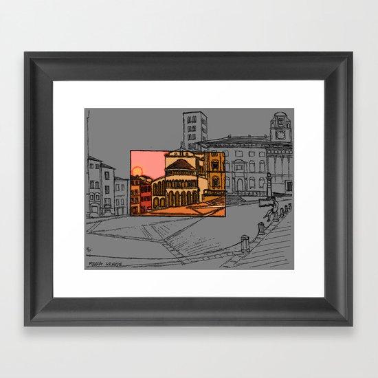 Piazza Grande Framed Art Print