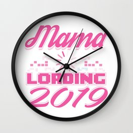 Baby Is Loading Boy Girl For Mom Announcement Gift Wall Clock