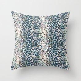 Animal skin ikat pattern Throw Pillow