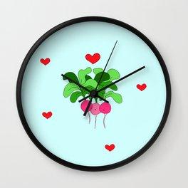 Radish Friends Wall Clock