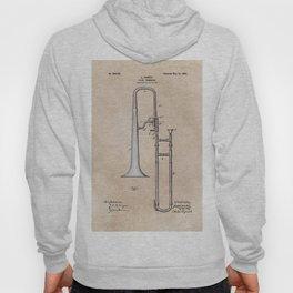 patent Hankey Slide Trombone 1902 Hoody