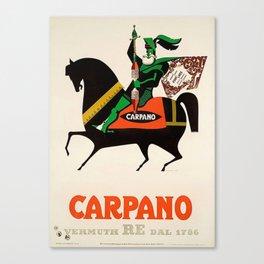 Vintage Armando Testa Carpano Vermouth Ad Print No. 3 Canvas Print