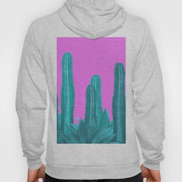 Agave Cactus Turquoise pink Hoody