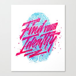Find your Identity Canvas Print