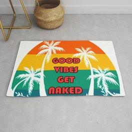 Good Vibes Get Naked  Rug