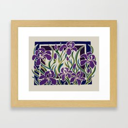 Irises Framed Art Print