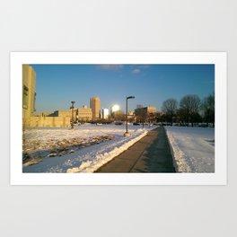 The City Weather Art Print
