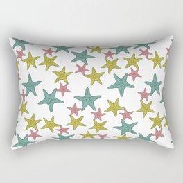 starfish tropical print Rectangular Pillow