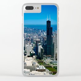 Chicago City Skyline Clear iPhone Case
