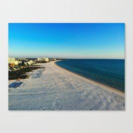 Beach Drone Shot Canvas Print