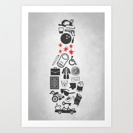 Elements Of Lebowski Art Print