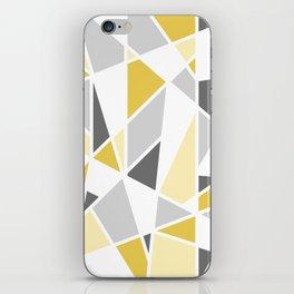 Geometric Pattern in yellow and gray iPhone Skin
