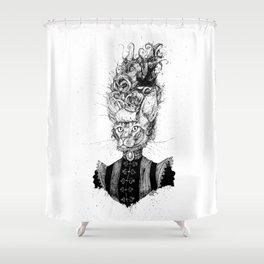 High-Class Victorian Cat (B&W) Shower Curtain