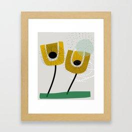 Scandinavian Fall florals Framed Art Print