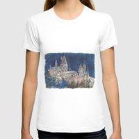 hogwarts T-shirts featuring Hogwarts Painting  by Christina Brunnock