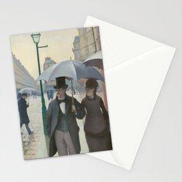 Paris Street; Rainy Day Stationery Cards