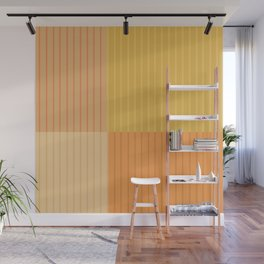Color Block Line Abstract IV Wall Mural