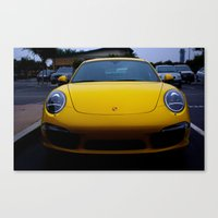 porsche Canvas Prints featuring Porsche by Matthew Soto