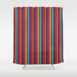 Ultra Bright Pattern Textured Lines Shower Curtain