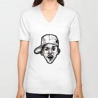 fresh prince V-neck T-shirts featuring Prince Breath of Fresh Air by sketchnkustom