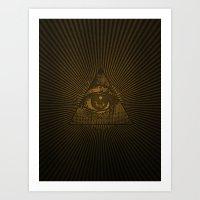 Eye of Providence Art Print