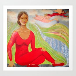 """""""The Lady In Red"""" Art Print"""
