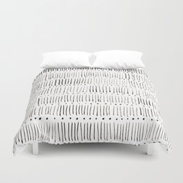 Lines and dots Duvet Cover