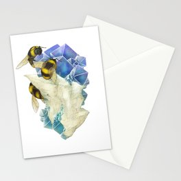 Bees on Fluorite Stationery Cards