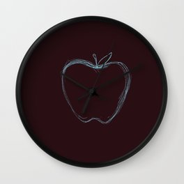 Simple Blue Apple Wall Clock