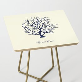AFE Branch Coral, Navy Side Table