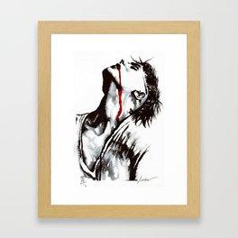 Your lips Framed Art Print