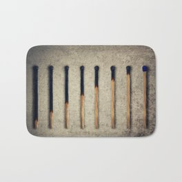 burnt matches stairsteps Bath Mat