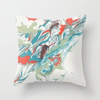 huebucket Throw Pillows featuring Colours In The Sky by Huebucket