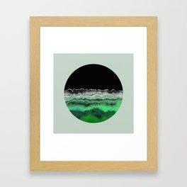 Emerald Decay Framed Art Print