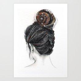 Shell woman Art Print