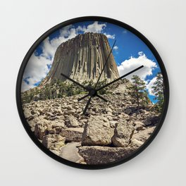 Rocky Path to Devils Tower Wall Clock