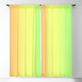 Spring - Pastel - Easter Greens Blues Yellow, Orange and Purple stripes Gradient Blackout Curtain